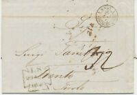 """GB 1849 int. unfree stampless VFU taxed cover (hw. """"32"""" in black) TRENTO, TIROLO"""