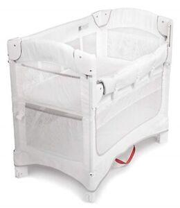 Arm's Reach Mini Ezee 2 IN 1 Baby Co-Sleeper Bedside Bassinet White NEW