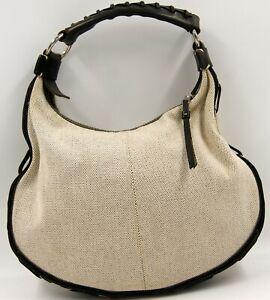 Dooney & Bourke Canvas & Leather Brown/Beige Shoulder Bag
