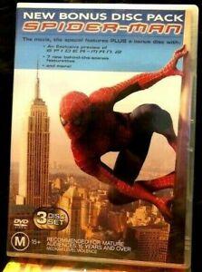 Spider-man 1 special edition  3 disc DVD set  Reg 4   free postage