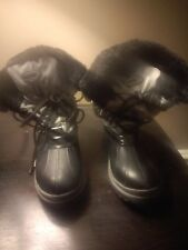 Girls Snowboots Khombu Black/Gray Size 6M
