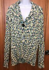 JH Collectibles Womens Size 2X Knitted Sweater Cardigan Multi Color #301