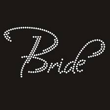The Bride RHINESTONE Heat Transfer Decal Bling T Shirts Iron On Wedding Party