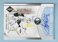 RYAN MILLER 2011/12 LIMITED CREASE CLEANERS AUTOGRAPH AUTO /99 SABRES