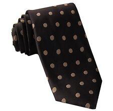 New Men's Polyester Woven Neck tie Necktie Prom Polka Dots Brown/Lt Brown