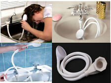 Single Double Tap Bath Sink Shower Head Hose Spray Hairdresser Pet Push On Mixer