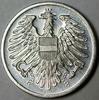 1965 Austria 2 Groschen Gem Proof Aluminum Eagle Coin