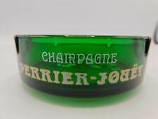 """Cendrier en verre vert publicitaire champagne Perrier-Jouët """"Belle Époque"""""""