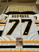 Ray Bourque Autographed/Signed Jersey JSA COA Boston Bruins