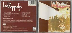 Led Zeppelin - Led Zeppelin II CD 1990  ATLANTIC ORIGINAL 19127-2 EARLY PRESS