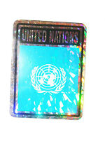 UNITED NATIONS COUNTRY FLAG  METALLIC BUMPER STICKER DECAL .. 4 X 3 INCH