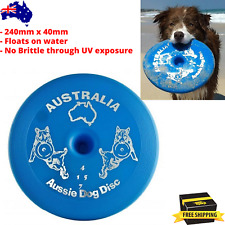 Aussie Dog Frisbee Flying Interactive Fetch Toys Floating Outdoor Training