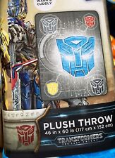 "Transformers Plush Throw Blanket - The Last Knight - 46"" X 60"" NEW"