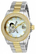 New Womens Invicta 24493 Betty Boop Character Collection Two Tone Bracelet Watch