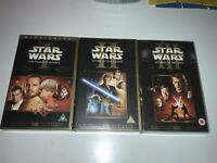 STAR WARS 3 x VHS VIDEO LOT Episode 1 2 3 Revenge of the Sith  PAL RARE TO FIND