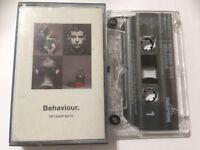 PET SHOP BOYS Audio Cassette Album 1990 BEHAVIOUR **Free UK Postage**