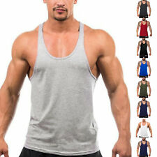 3 Pack Men's Gym Tank Tops Workout Tank Y-Back Muscle Tee Fitness Bodybuilding