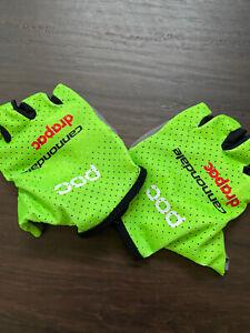 Cannondale POC cycling short finger gloves summer padded Medium Green