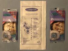 Lansinoh 2 Breastmilk Storage Bags & 2 Pairs Nursing Breast Pads Samples, BNIP