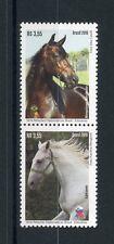 Brazil 2016 MNH Horses Diplomatic Relations Slovenia 2v Se-tenant Pair Stamps