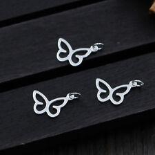 3x 925 Silber Charm Anhänger Schmetterling Einhänger DIY für Bettelarmband A2333