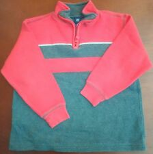 Gap Kids Red Grey Striped Half-Zip Mock-Neck Knit Sweater Size 6 7
