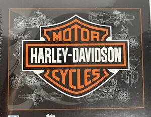 "Harley Davidson Motor Cycles Logo 500 Piece Puzzle • FX Schmid • 24"" x 18"" • NEW"