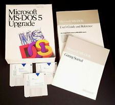 "Microsoft MS-DOS 5 Upgrade 3 Disks Version 5.0 for DOS Systems 3.5"" - Vintage"
