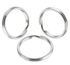 10 Spaltringe 25mm Silber Ringe für Schlüsselanhänger Zubehörteil Schmuck M158