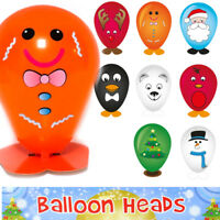 8 x CHRISTMAS CHARACTER BALLOON HEADS CHILDS PARTY ACTIVITY TOY STOCKING FILLER