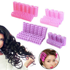 12PCS DIY Plastic Hair Salon Curlers Rollers Tool Soft Small Hairdressing Tools