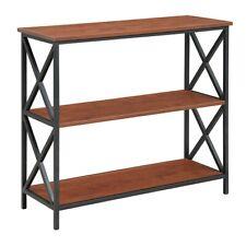 Convenience Concepts Tucson 3 Tier Bookcase, Black/Cherry - 161833