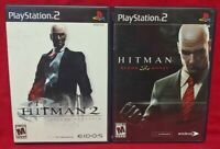 Hitman 2 + Blood Money - PS2 Playstation 2 Game Lot 1 Owner Complete Working !