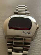 Vintage Pulsar P2 LED Watch Stainless Steel Time Computer James Bond, Tiffany co