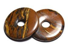 Pendentif Pierre semi précieuse - Oeil de Tigre Grand Donut Pi 60mm - 4558550091