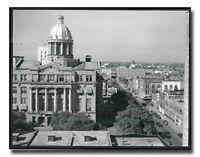 Houston City Hall - 1943 Vintage Old City Black and White Wall Art Print (16x20)