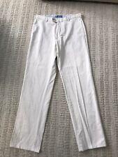 Peter Millar Men's Pima Cotton Golf Casual Pants Cream Flat Front Mens Size 32