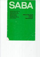 Saba istruzioni manual ULTRACOLOR P 42 S 51 S 52 telecommander b1206