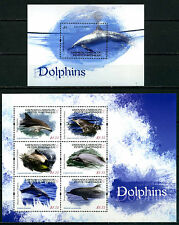 2013 Grenada Carriacou, Marine Life, Dolphins, SS+Sheet, MNH