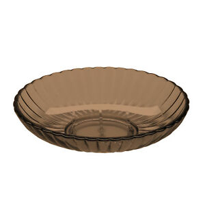 Soap Holder Dish - Brown Ribbed Acrylic Bath Accessory
