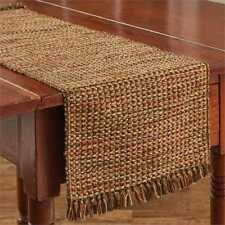 Primitive Country Harvest Tweed Table Runner 13x36 Brown Pumpkin Olive Gold