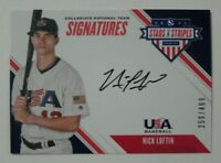 2020 Panini Stars & Stripes USA Baseball On Card Auto Nick Loftin /499