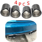 4 Pcs 63MM IN 93MM OUT Glossy Carbon Fiber Exhaust tip For BMW M2 F87 M3 F80 M4