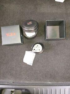 TUMI Universal Power Adapter Pro Grounded Travel AC Plug w/ Case