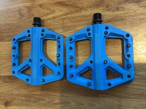 Crank Brothers Stamp 1 Large Flat Pedals - Blue