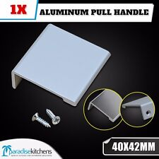 1x ALUMINUM 40x42mm KITCHEN CABINET CUPBOARD DRAWER PULL HANDLE