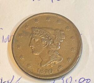 1840 United States Large Cent