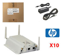 10x HP ProCurve MSM325 Wireless Access Point PoE J9373B + Brackets & AC Adapters