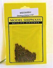 """Model Shipways Fittings MS 0390BW Walnut Deadeyes 3/32"""" (2.5mm) 150 Per PK"""