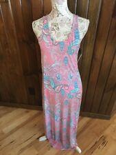 2 Just Love Razor Back Stretch Pastel Paisley & Chevron Maxi Women's Dresses S